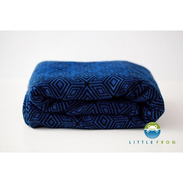 Little Frog Woven Wrap - Jacquard Indigo Cube - Woven Wrap - Little Frog - Carry Them Close