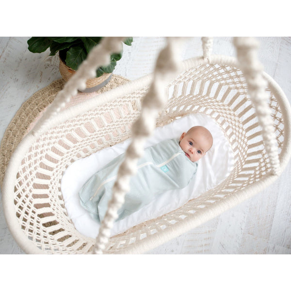 ErgoPouch - ErgoCocoon Summer Swaddle & Sleeping Bag (0.2TOG) - Mint Star, , Swaddle, ErgoCocoon, Carry Them Close  - 1