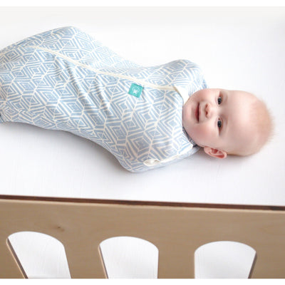 ErgoPouch - ErgoCocoon Summer Swaddle & Sleeping Bag (0.2TOG) - Tribal Blue, , Swaddle, ErgoCocoon, Carry Them Close  - 1