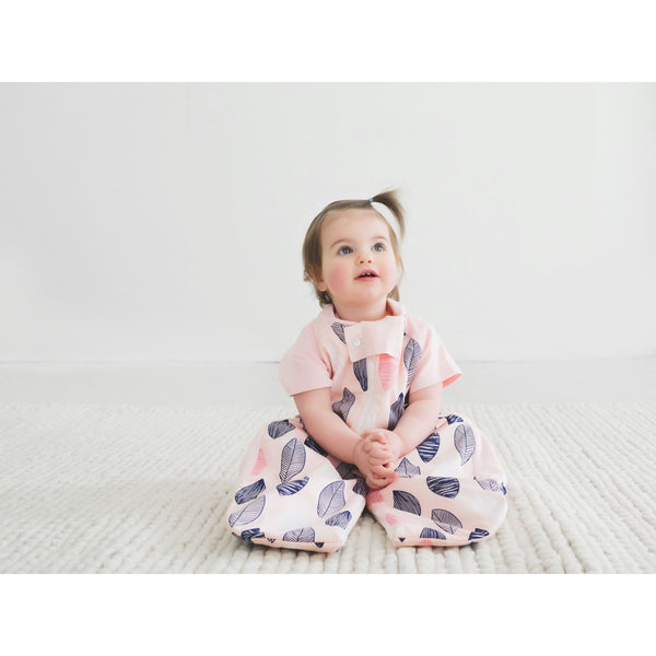 ErgoPouch - Sleep Suit Bag Spring/Autumn (1TOG) - Pink Leaf - Baby Sleeping Bags - ErgoCocoon - Carry Them Close