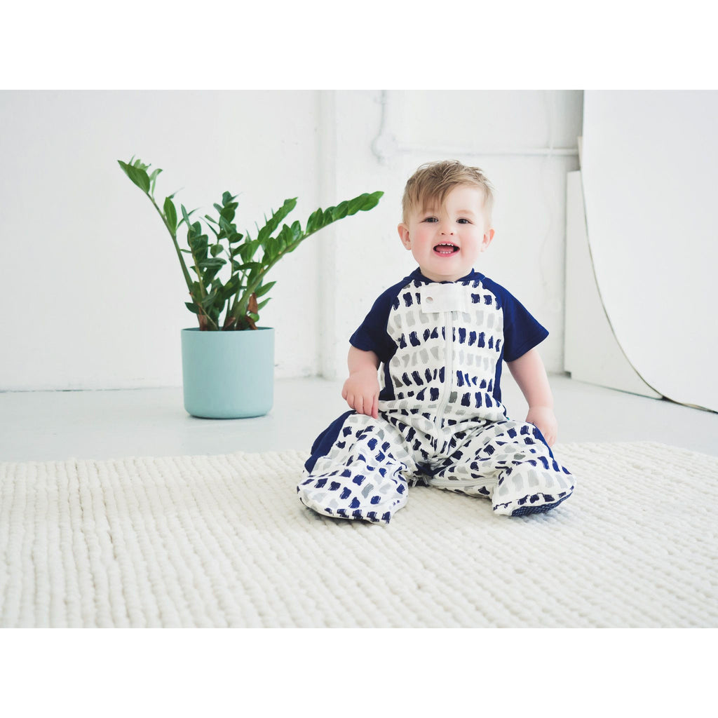 ErgoPouch - Sleep Suit Bag Spring/Autumn (1TOG) - Navy Paint - Baby Sleeping Bags - ErgoCocoon - Carry Them Close