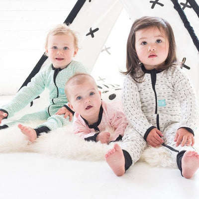 ErgoPouch - ErgoLayers Sleep Wear (1.0 Tog) - MoonBeam Drop - Clothing - ErgoCocoon - Afterpay - Zippay Carry Them Close