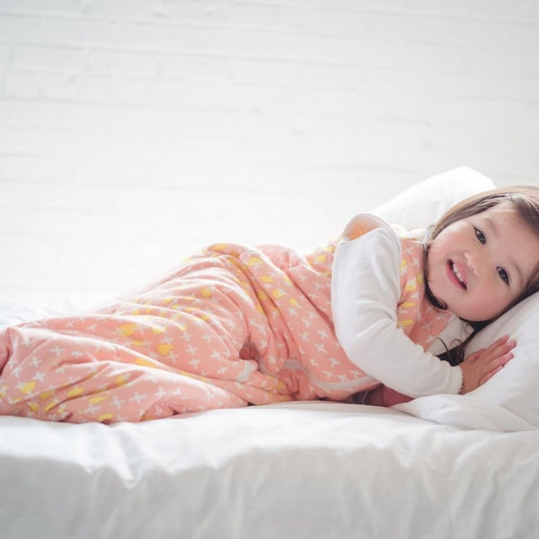 ErgoPouch - Jersey Sleeping Bag Winter (2.5TOG) - Peach Cross - Swaddle - ErgoCocoon - Carry Them Close