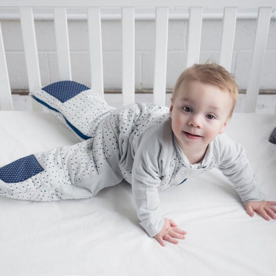 ErgoPouch - Sleep Suit Bag Winter (2.5TOG) - Blue Dot - Baby Sleeping Bags - ErgoCocoon - Afterpay - Zippay Carry Them Close