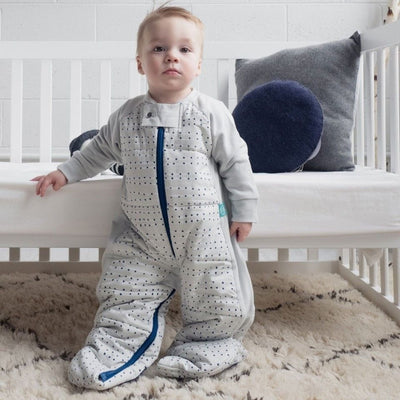 ErgoPouch - Sleep Suit Bag Winter (3.5TOG) - Blue Dot - Baby Sleeping Bags - ErgoCocoon - Afterpay - Zippay Carry Them Close