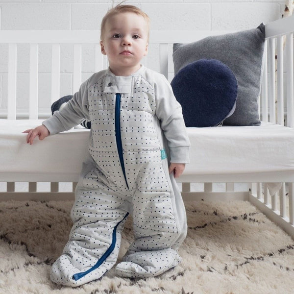 ErgoPouch - Sleep Suit Bag Winter (3.5TOG) - Blue Dot - Baby Sleeping Bags - ErgoCocoon - Carry Them Close