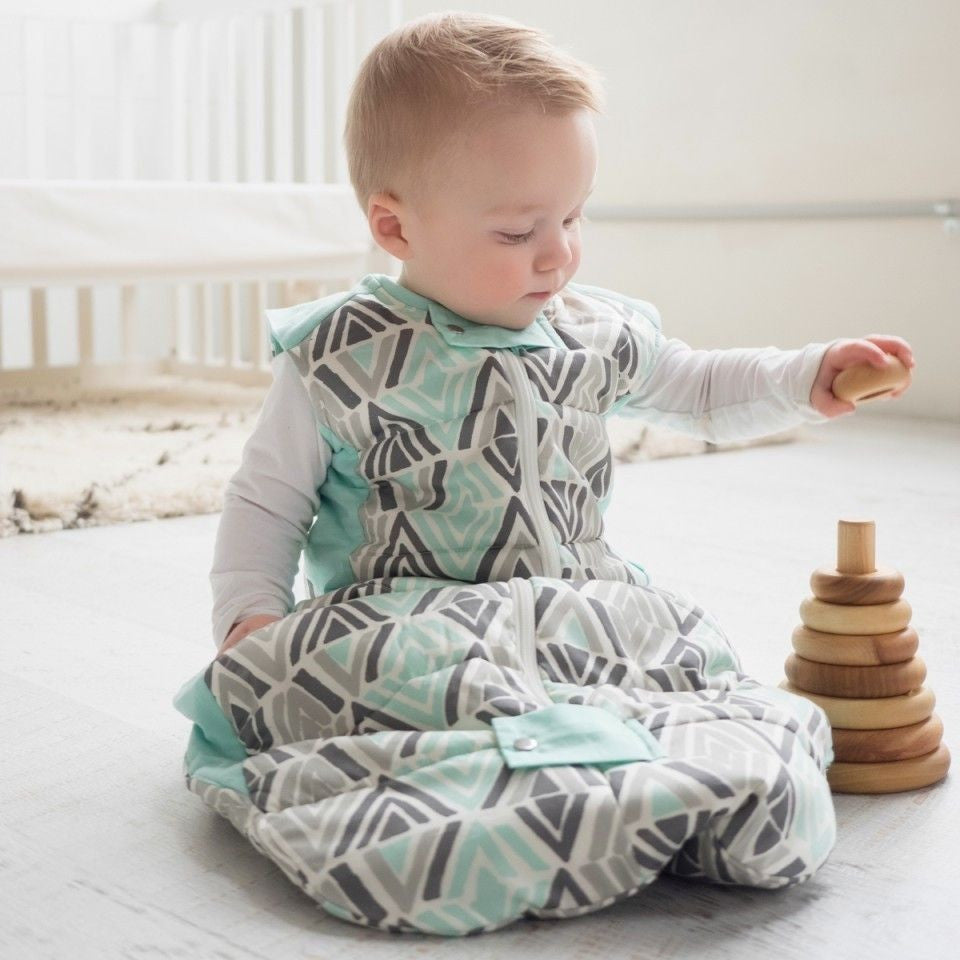 ErgoPouch - Baby Sleeping Bag Winter (2.5TOG) - Tribal Mint - Baby Sleeping Bags - ErgoCocoon - Carry Them Close