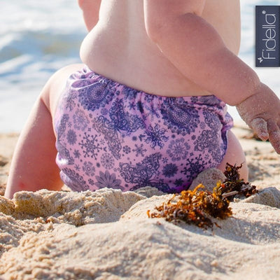 Fidella - All In One Cloth Nappy - Iced Butterfly violet - Cloth Nappies - Fidella - Afterpay - Zippay Carry Them Close