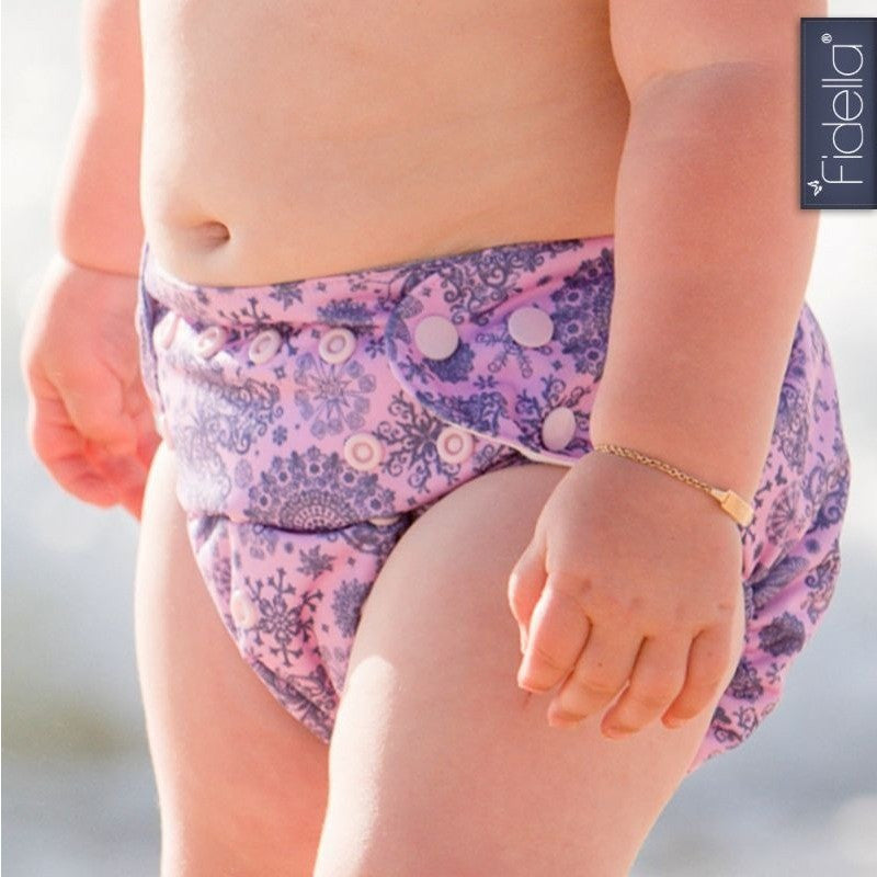 Fidella - All In One Cloth Nappy - Iced Butterfly violet - Cloth Nappies - Fidella - Carry Them Close