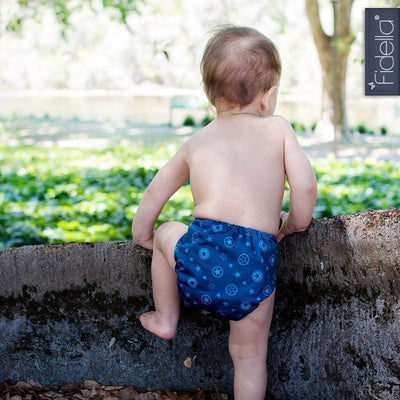 Fidella - All In One Cloth Nappy - Outer Space blue - Cloth Nappies - Fidella - Afterpay - Zippay Carry Them Close