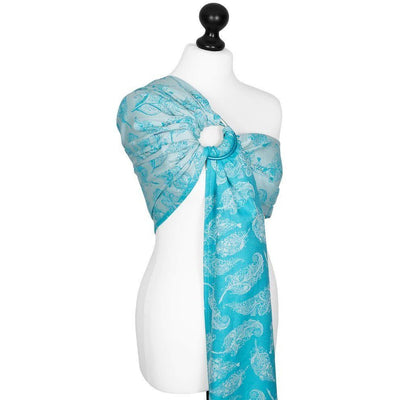 Fidella Ring Sling - Feather Rain Scuba Blue - Ring Sling - Fidella - Afterpay - Zippay Carry Them Close