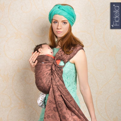Fidella Ring Sling - Persian Paisley Hazel - Ring Sling - Fidella - Afterpay - Zippay Carry Them Close