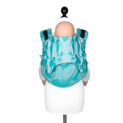 Fidella Onbuhimo back carrier - Limited Edition Sirens Blue Linen - Onbuhimo - Fidella - Afterpay - Zippay Carry Them Close