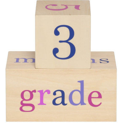 All4Ella Milestone Blocks - Girl (wood) - Gift - All4Ella - Afterpay - Zippay Carry Them Close