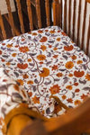 Pop Ya Tot - Cotton Muslin Cot Sheet - Buti Block