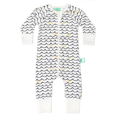 ErgoPouch - ErgoLayers Bamboo Sleep Wear - Summer Long Sleeve (0.2 TOG) - Waves