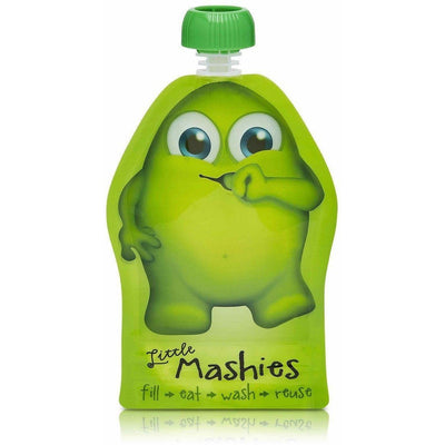 Little Mashies - Reusable Food Pouches 2PK (Green) - Feeding - Little Mashies - Afterpay - Zippay Carry Them Close