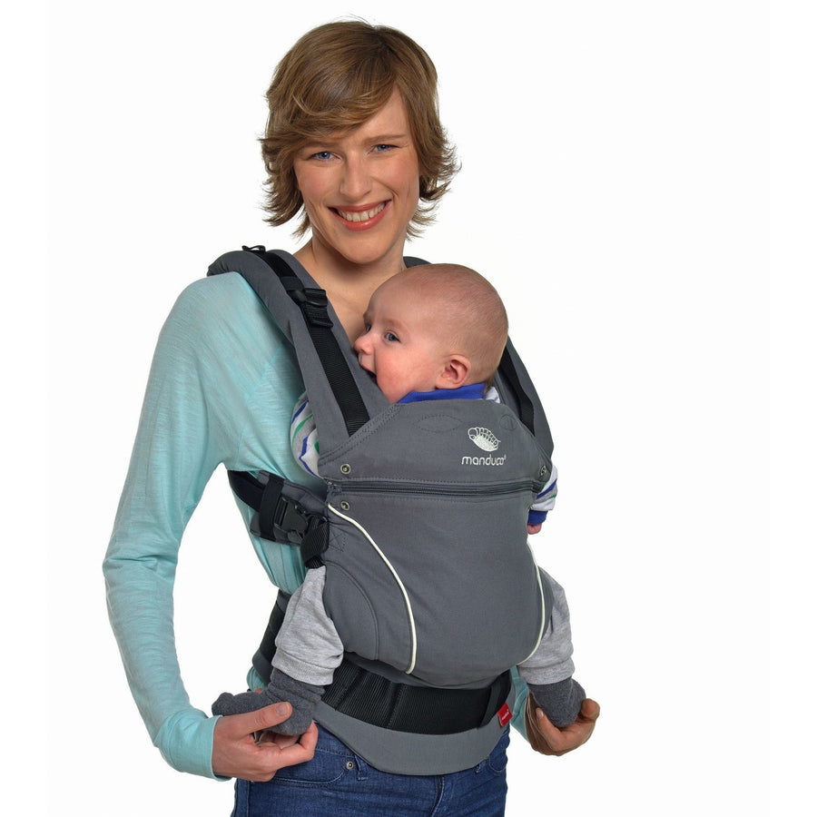 8db6e189156 Manduca Baby Carrier Pure Cotton - Dark Grey - Baby Carrier - Manduca -  Afterpay -
