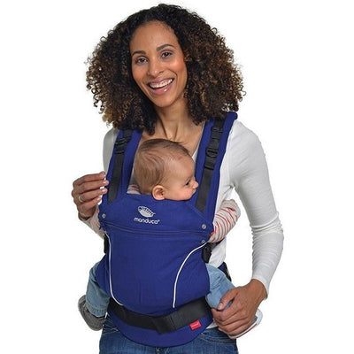 Manduca Baby Carrier - Pure Cotton Royal Blue - Baby Carrier - Manduca - Afterpay - Zippay Carry Them Close