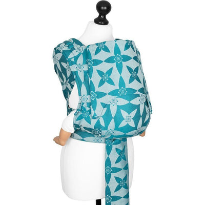 Fidella Fly Tai - MeiTai babycarrier Limited Edition Blossom Ocean Blue (New Size - From 4months) - Meh Dai - Fidella - Afterpay - Zippay Carry Them Close