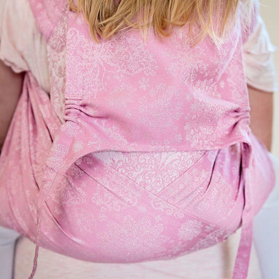 Fidella Fly Tai - MeiTai babycarrier Iced Butterfly Sparkling Rose (Baby Size - From Birth) - Meh Dai - Fidella - Afterpay - Zippay Carry Them Close
