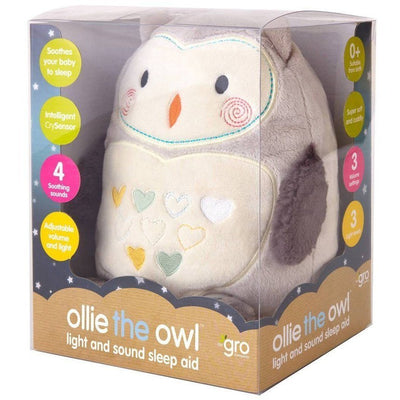 Gro Company - Ollie the Owl Sound and Light GroFriend - nursery - The Gro Company - Afterpay - Zippay Carry Them Close