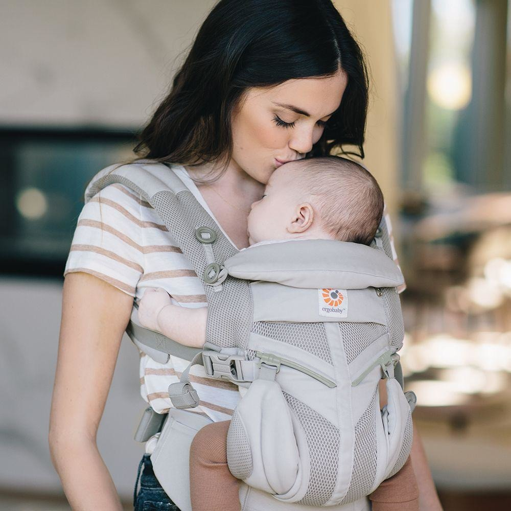 50ab64526ed Ergobaby Omni 360 Cool Air Mesh Carrier - Pearl Grey - Carry Them Close
