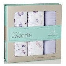 Aden and Anais - Organic swaddles Once Upon a Time (3 Pack), , swaddle, Aden and Anais, Carry Them Close  - 3