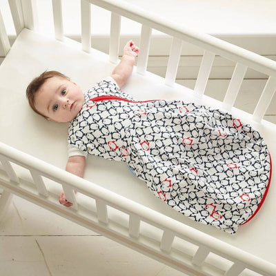 Grobag Newborn Plus Swaddle (Light Weight) - Penguin Pop Navy - swaddle - The Gro Company - Afterpay - Zippay Carry Them Close
