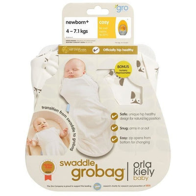 Grobag Newborn Plus Swaddle (Light Weight) - Orla Kiely Owls - swaddle - The Gro Company - Afterpay - Zippay Carry Them Close