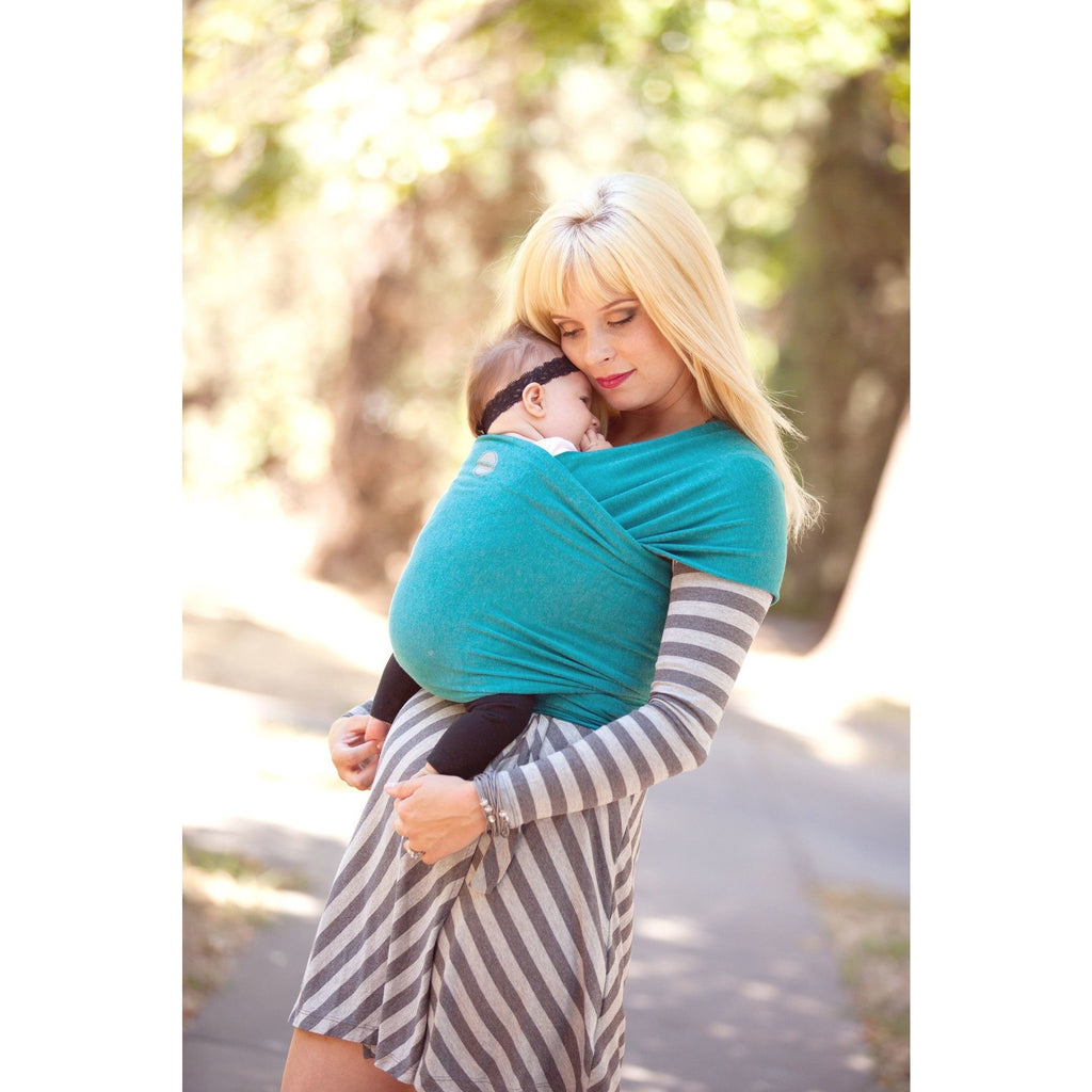 Moby Wrap Bamboo - Teal, , Stretchy Wrap, Moby, Carry Them Close  - 1