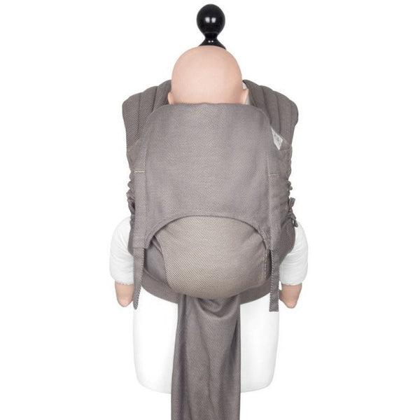 Fidella Fly Tai - MeiTai babycarrier Limited Edition - Lines Warm Taupe (Toddler Size), , Mei Tai, Fidella, Carry Them Close  - 1