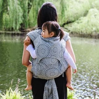 Fidella Fly Tai - MeiTai babycarrier Limited Edition Mosaic Stone Grey (Baby Size - From Birth), , Mei Tai, Fidella, Carry Them Close  - 3