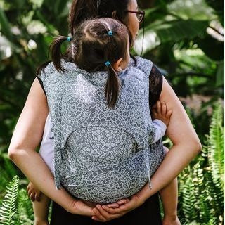 Fidella Fly Tai - MeiTai babycarrier Limited Edition Mosaic Stone Grey (Baby Size - From Birth), , Mei Tai, Fidella, Carry Them Close  - 1