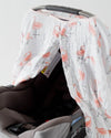 Little Unicorn - Car Seat Canopy - Pink Ladies