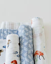 Little Unicorn - Cotton Muslin Baby Swaddle (Set 3) - Fox