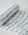 Little Unicorn - Cotton Muslin Baby Swaddle -  Rose Vine
