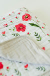 Little Unicorn - Muslin Blanket - Summer Poppy
