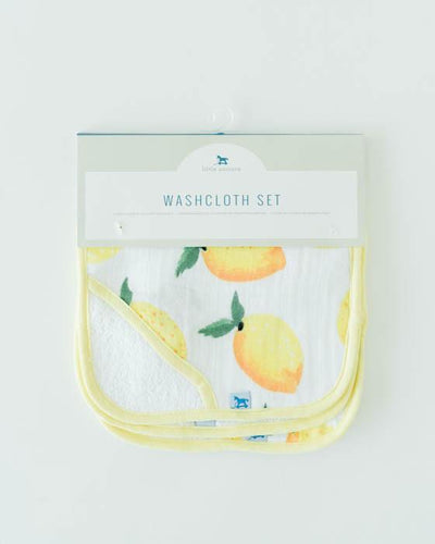 Little Unicorn - Wash Cloth Set (3pk) - Lemon