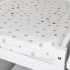 Little Turtle Baby - Changing Pad Cover - Beige & Grey Spots