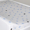 Little Turtle Baby - Changing Pad Cover - Pale Blue & Grey Spots