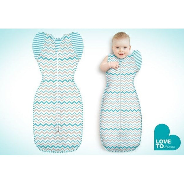 Love to Dream - Love to Swaddle Up 50/50 Original - Zig Zag Aqua - Swaddle - Love To Deam - Carry Them Close