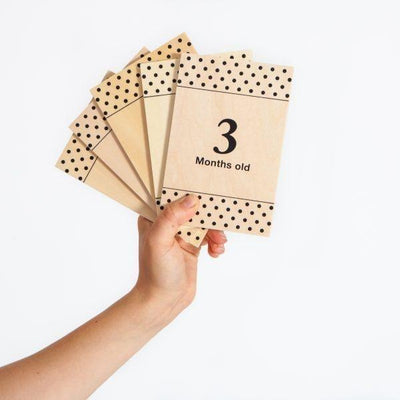 All4Ella Milestone Cards - White (wood) - Gift - All4Ella - Afterpay - Zippay Carry Them Close