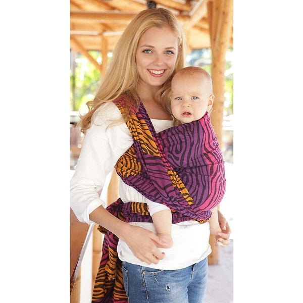 Kokadi Wrap - Zabra Sunset Wrap (Limited Edition), , Woven Wrap, Kokadi, Carry Them Close