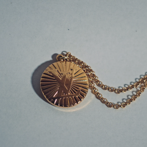 Louis Vuitton Gold Sunburst Necklace