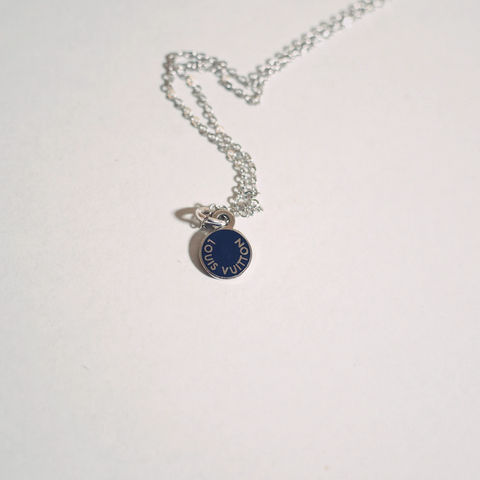 Louis Vuitton Micro Blue and Silver Necklace