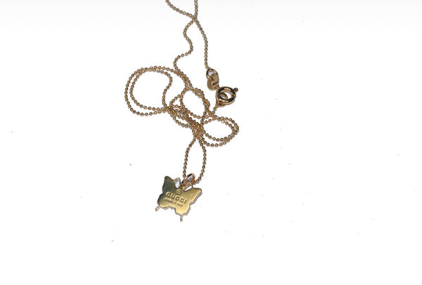 Gucci Gold Mini Butterfly Pendant Necklace