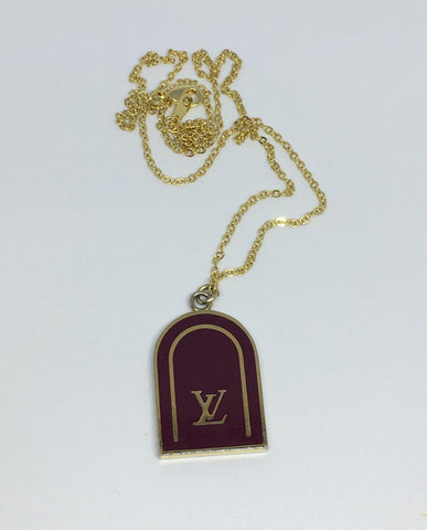 Louis Vuitton Burgundy Bag Tag