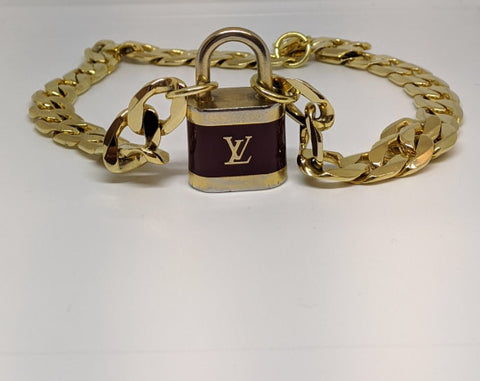 Louis Vuitton Large Brown Lock Necklace