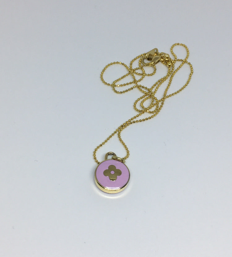 Louis Vuitton Small Light Purple Flower Necklace